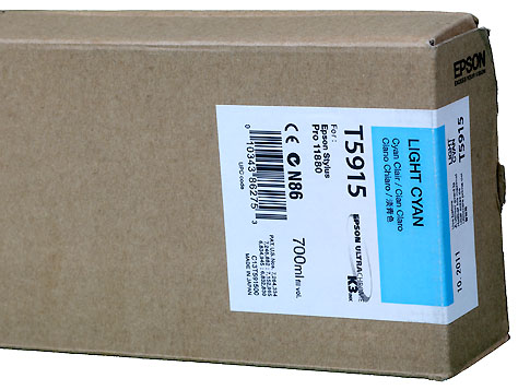 Epson K3 ink cartridge 700ml for Pro11880 LIGHT CYAN   *** These are Genuine Epson inks ***