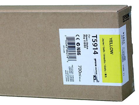 Epson K3 ink cartridge 700ml for Pro11880 YELLOW   *** These are Genuine Epson inks ***