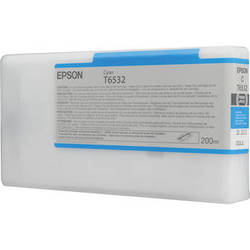 Epson UltraChrome HDR Ink 200ml cartridge C (Cyan) for 4900 (T653200)   *** These are Genuine Epson inks ***
