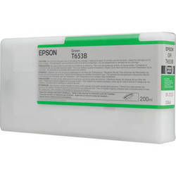Epson UltraChrome HDR Ink 200ml cartridge G (Green) for 4900 (T653B00)   *** These are Genuine Epson inks ***