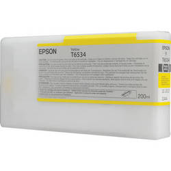 Epson UltraChrome HDR Ink 200ml cartridge Y (Yellow) for 4900 (T653400)   *** These are Genuine Epson inks ***