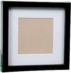 InkjetPro Classic Black Frame, 40mm wood box frame with matt board.