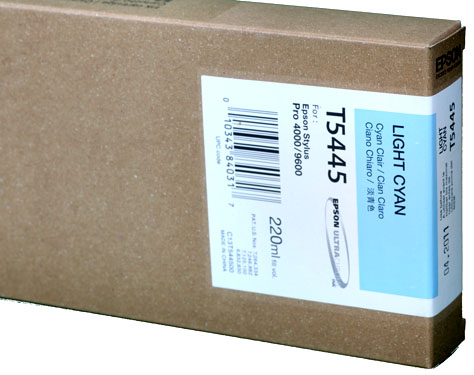 Epson Ink 220ml cartridge LC (Light Cyan) for 4000/7600/9600 (T544500)