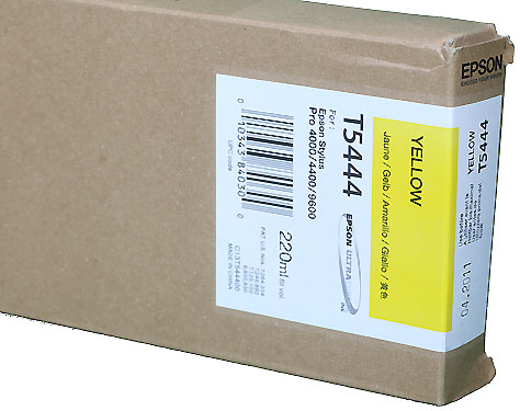 Epson Ink 220ml cartridge Y (Yellow) for 4000/7600/9600 (T544400)