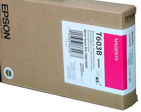Epson Magenta 220ml ink Cartridge for  78/9800 (T5633)