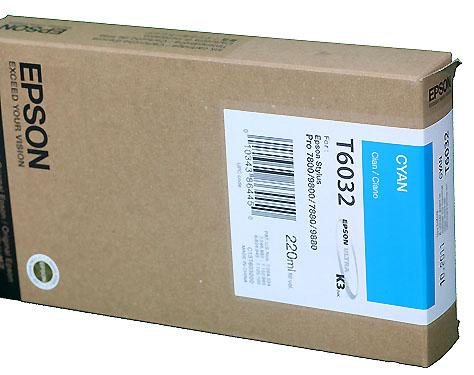 Epson Cyan 220ml Ink Cartridge For 78 9800 T5632