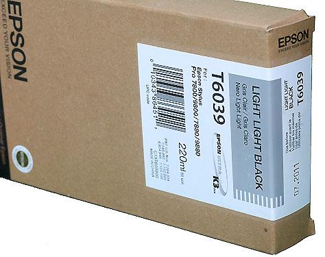 Epson Light Black 220ml ink Cartridge for  78/9800 (T5637)