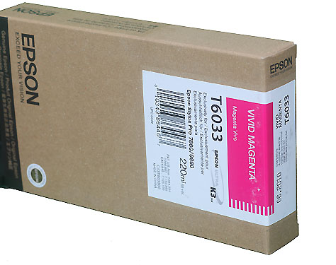 Epson Vivid Magenta 220ml ink Cartridge for  Epson 7880/9880 (T603300)