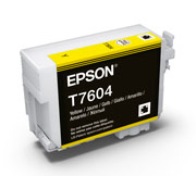 Yellow ink cartridge for Epson SURECOLOR SC-P600, UltraChrome HD Ink, Epson C13T760400