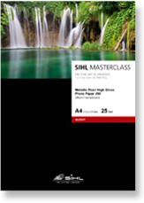 SIHL MASTERCLASS Metallic Pearl High Gloss Photo Paper, 290