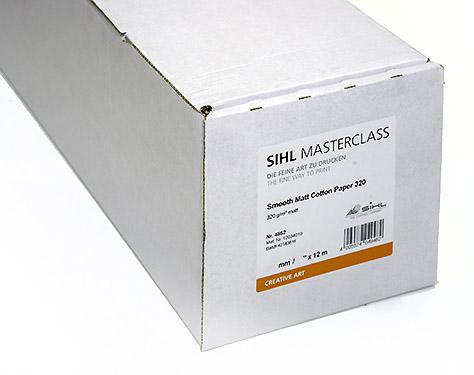 "17"" x 12m SIHL MASTERCLASS Smooth Matt Cotton Paper 320 (4852)"