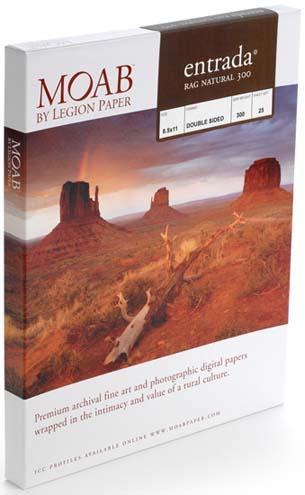 """13"""" x 19"""" (A3+) Moab Entrada Natural 300 (25 Sheet Pack)"""