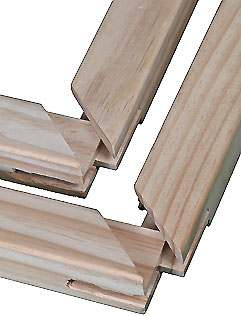 """18"""" InkjetPro Bar Standard - 1 Box of 32mm x 42mm Pre-Made Stretcher bars containing 16 pieces of 18"""" lengths"""