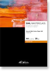 A4 SIHL MASTERCLASS Smooth Matt Cotton Paper 320 (4852), 25 Sheets