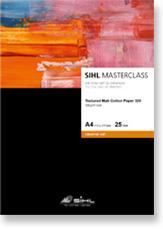 A4 SIHL MASTERCLASS Textured Matt Cotton Paper 320 (4853), 25 Sheets