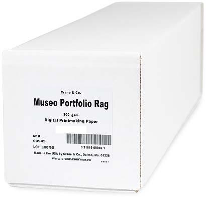 "44"" x 50ft Museo Portfolio Rag 300gsm Roll, 100% cotton, pH-neutral, acid free and brightener free"