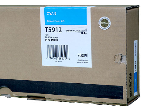 Epson K3 ink cartridge 700ml for Pro11880 CYAN   *** These are Genuine Epson inks ***