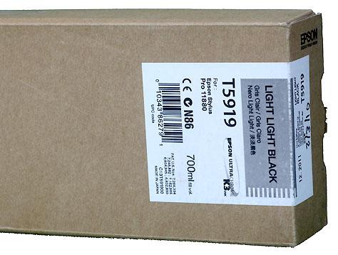 Epson K3 ink cartridge 700ml for Pro11880 LIGHT LIGHT BLACK   *** These are Genuine Epson inks ***