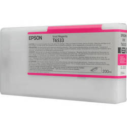 Epson UltraChrome HDR Ink 200ml cartridge VM (Vivid Magenta) for 4900 (T653300)   *** These are Genuine Epson inks ***