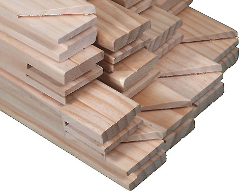 1.33 meter InkjetPro Bar Standard  - 1 Box of 32mm x 42mm Pre-Made Stretcher bars (engineered laminated wood) containing 16 pieces of 1.33m lengths