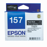 Photo Black ink cartridge for R3000, Ultrachrome K3 with VM, Epson T1571 (C13T157190)