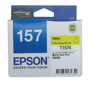 Yellow ink cartridge for R3000, Ultrachrome K3 with VM, Epson T1574 (C13T157490)