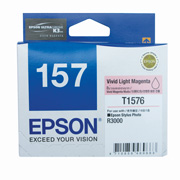 Vivid Light Magenta ink cartridge for R3000, Ultrachrome K3 with VM, Epson T1576 (C13T157690)