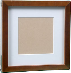 InkjetPro Classic Walnut Brown Frame, 40mm wood box frame with matt board.