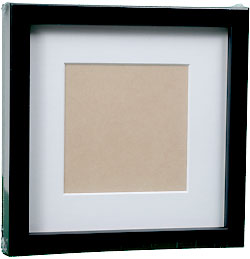 InkjetPro Classic Black Frame, 40mm wood box frame with matt board.
