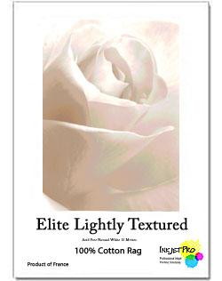 InkjetPro Elite A4 Lightly Textured Fine Art paper, 320gsm, 100% Cotton, Product of France, Zero OBA (20 Sheets)