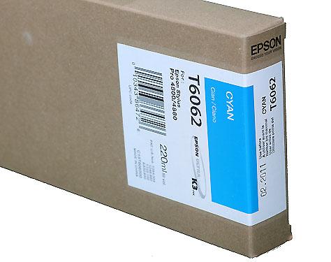 Epson Cyan 220ml ink Cartridge for 4800/4880 (T5652/T606200)