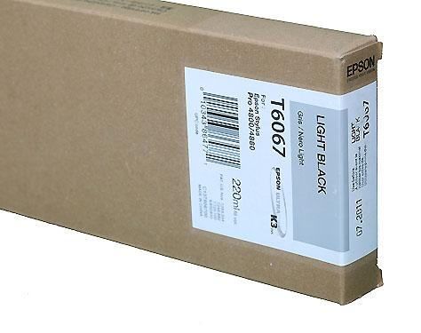 Epson Light Black 220ml ink Cartridge for 4800/4880 (T5657/T606700)