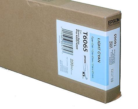 Epson Light Cyan 220ml ink Cartridge for 4800/4880 (T5655/T606500)