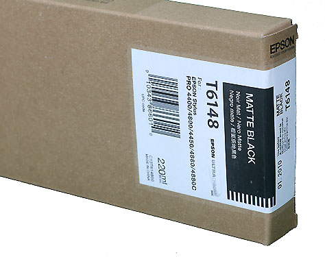 Epson Matt Black 220ml ink Cartridge for  Epson 4800/4880 (T614800)