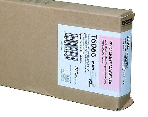 Epson Vivid Light Magenta 220ml ink Cartridge for  Epson 4880 (T606600)