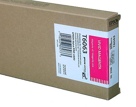 Epson Vivid Magenta 220ml ink Cartridge for  Epson 4880 (T606300)