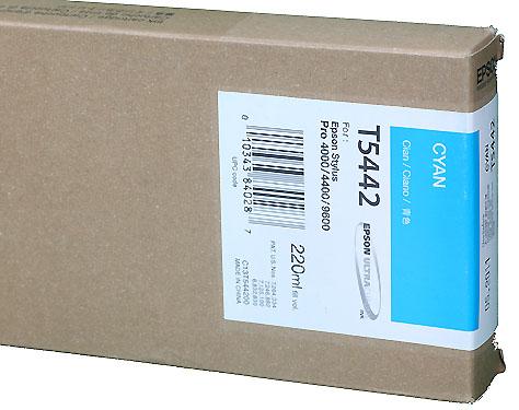 Epson Ink 220ml cartridge C (Cyan) for 4000/7600/9600 (T544200)