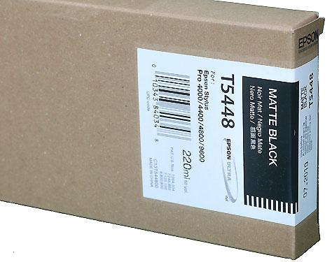 Epson Ink 220ml cartridge MK (Matte Black) for 4000/7600/9600/4800 (T544800)