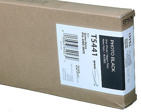 Epson Ink 220ml cartridge PK (Photo Black) for 4000/7600/9600 (T544100)