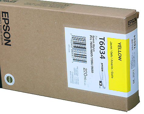 Epson Yellow 220ml ink Cartridge for  78/9800 (T5634)