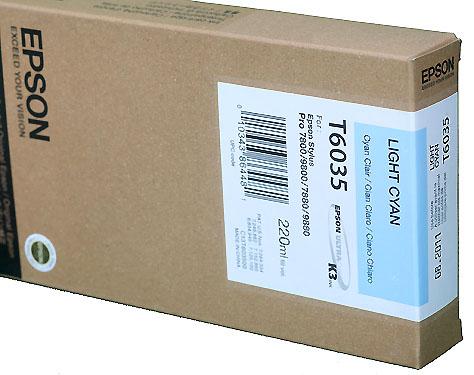 Epson Light Cyan 220ml ink Cartridge for  78/9800 (T5635)