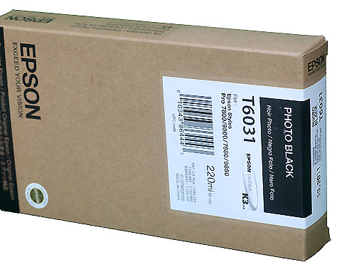Epson Photo Black 220ml ink Cartridge for  78/9800 (T5631)