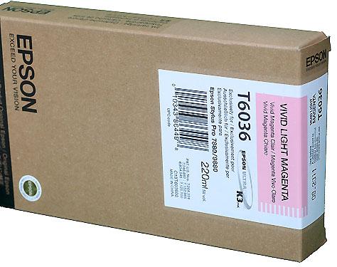 Epson Vivid Light Magenta 220ml ink Cartridge for  Epson 7880/9880 (T603600)