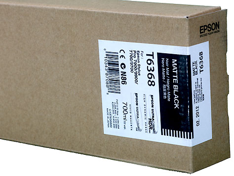 Epson UltraChrome HDR Ink 700ml cartridge MK (Matte Black) for 7900/9900 (C13T636800)   *** These are Genuine Epson inks ***