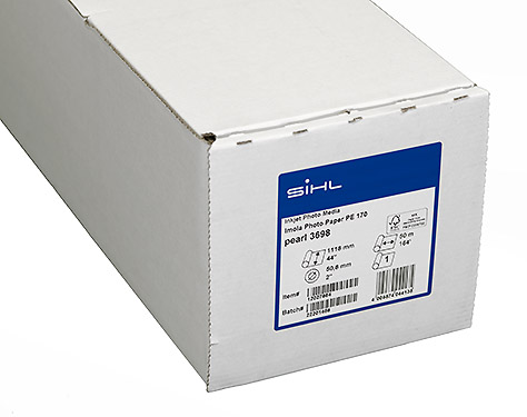 """44"""" x 50m Sihl Imola Photo Paper PE 170 Pearl (3698) for Proofing and Posters"""