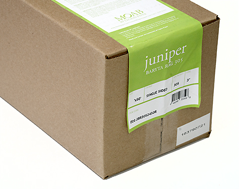 "17"" x 50' Moab Juniper Baryta Rag 305, 100% Cotton, True Baryta"