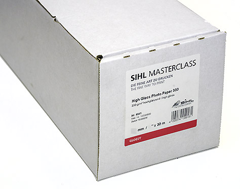 "44"" x 30m SIHL MASTERCLASS High Gloss Photo Paper 330 (4841)"