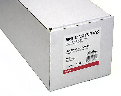 "17"" x 30m SIHL MASTERCLASS High Gloss Photo Paper 330 (4841)"
