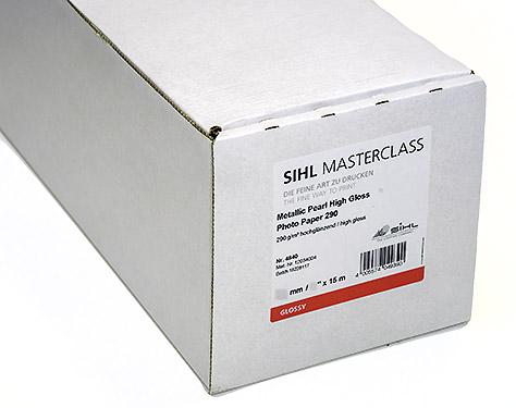 "44"" x 15m SIHL MASTERCLASS Metallic Pearl High Gloss Photo Paper 290 (4840)"