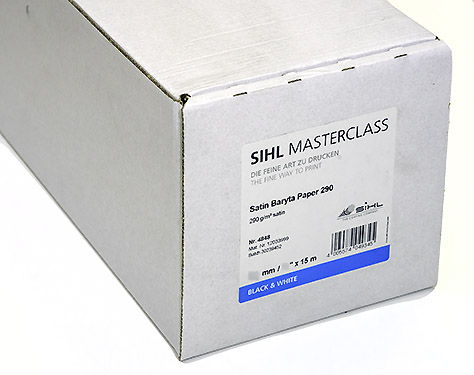 "17"" x 15m SIHL MASTERCLASS Satin Baryta Paper 290 (4848)"